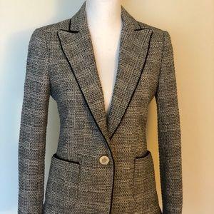 Zara Grey & Black Tweed Blazer